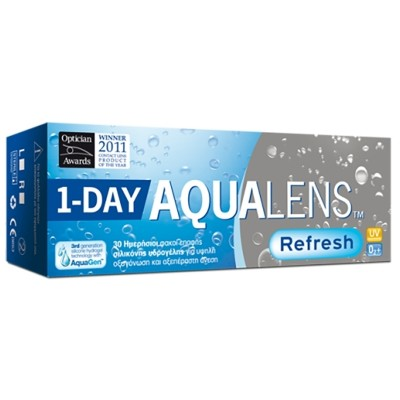 96c214a479 AQUALENS REFRESH 1DAY DAILY DISPOSABLE SILICON HYDROGEL CONTACT LENSES (30  LENSES+10 FOR FREE)